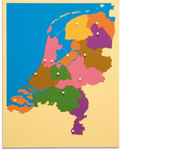 Puzzlekarte Niederlande