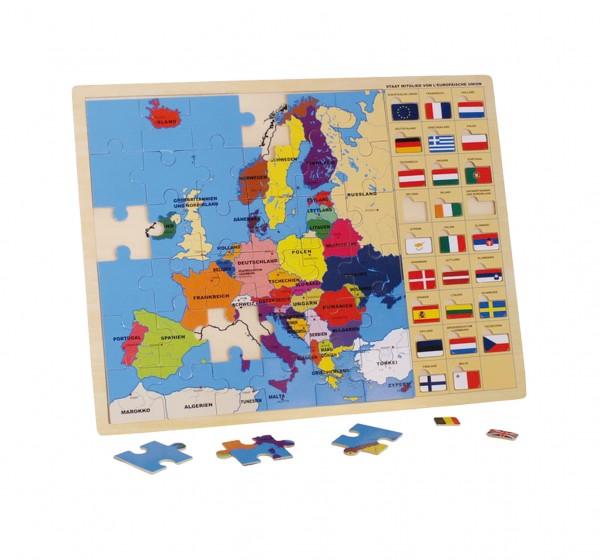 Europa Puzzle mit Fahnen