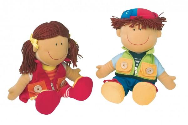 Anziehpuppen Nicolette und David