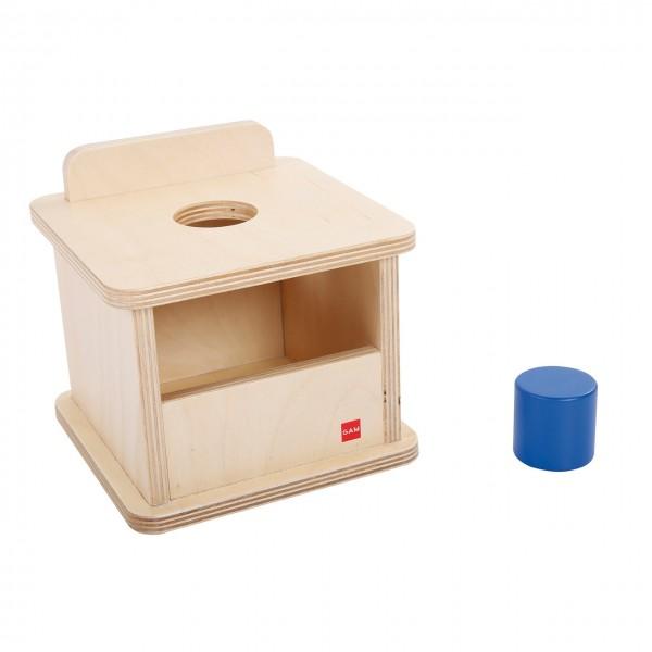 Kasten mit dickem blauem Zylinder (GAM)