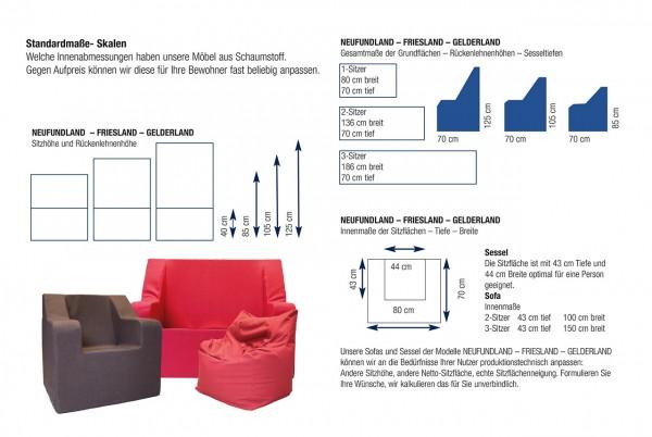 Anpassbare Sessel, Sofa und Sitzwürfel