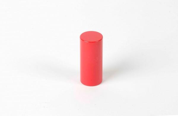 Farbige Zylinder - 4. roter Zylinder