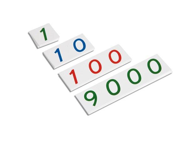 Kleine Zahlenkarten 1-9000