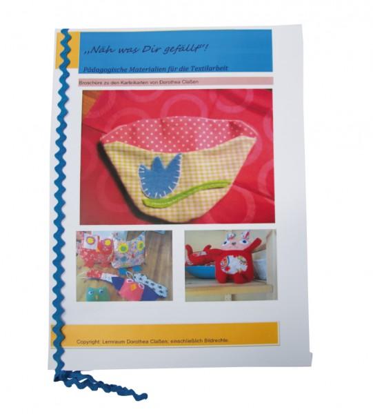 Broschüre für die Textilarbeit Nähe, was Dir gefällt!