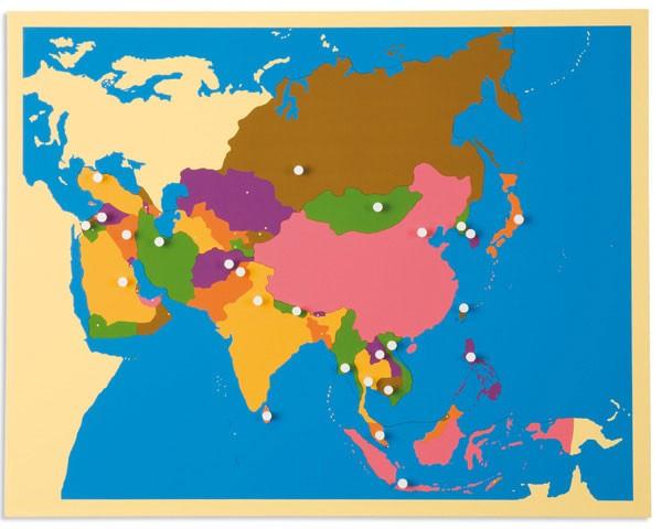 Puzzlekarte Asien