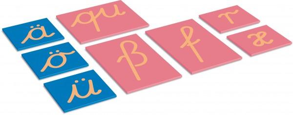 Sandpapierbuchstaben Ergänzung - dt. Kleinbuchstaben in LA