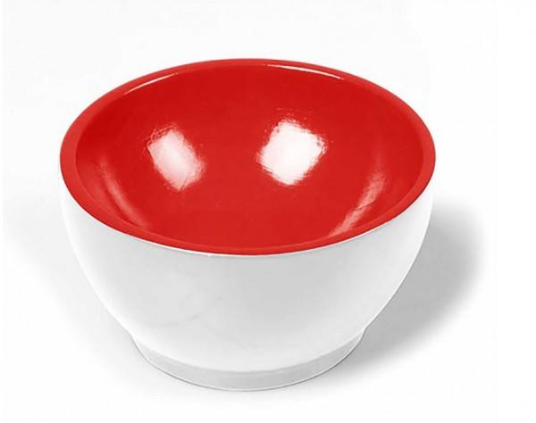 Holzschälchen - weiß-rot