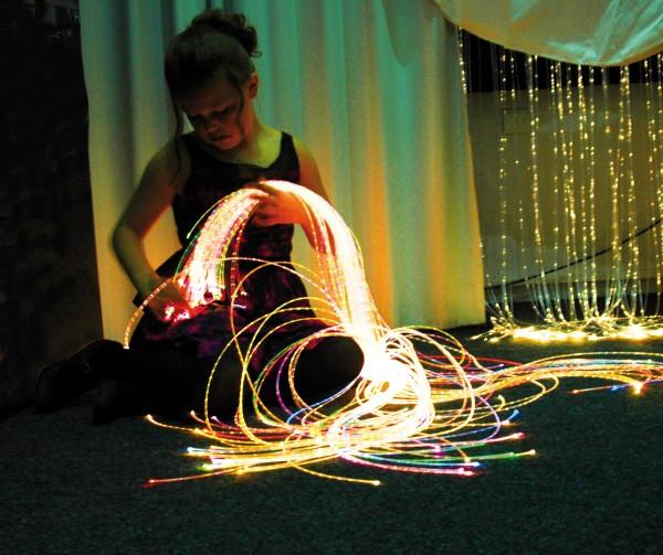 Lichtfaserbündel glasklar