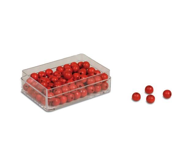 Kunststoffdose mit 100 Perlen