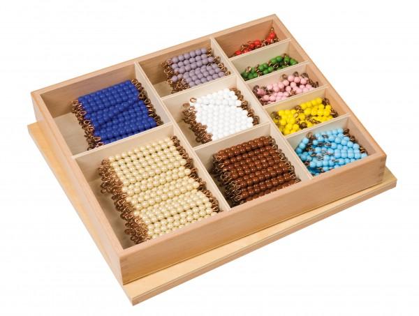 Kasten mit Perlenstäbchen für Umtausch Decanom Glasperlen