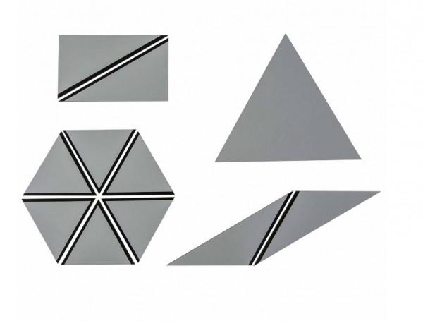 Satz konstructive Dreiecke grau