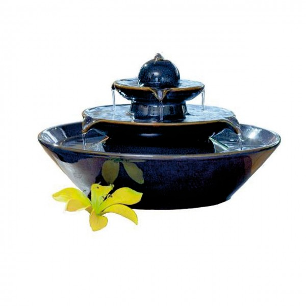 Keramikbrunnen Modena blau