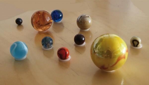 Murmeln Sonnensystem