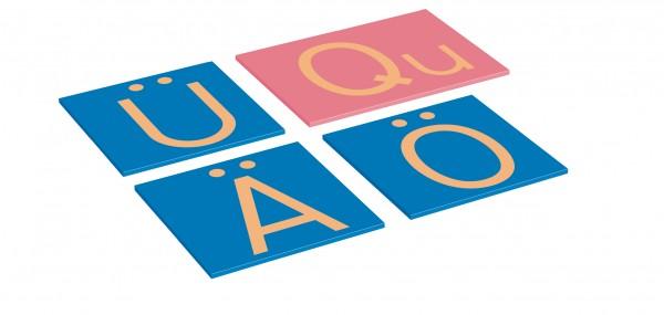 Ergänzungsatz zu Sandpapiergroßbuchstaben Druckschrift