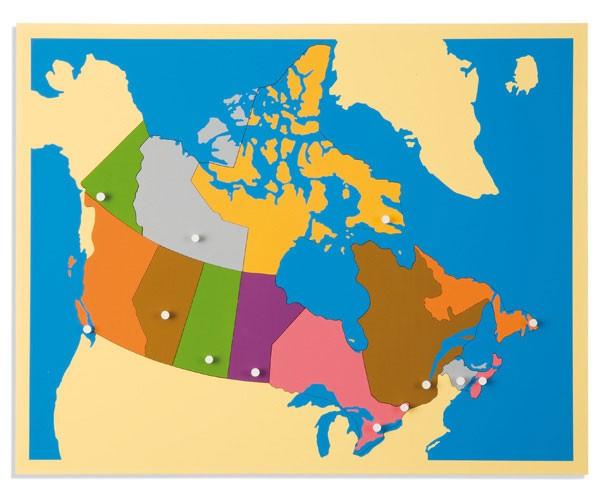Puzzlekarte Kanada