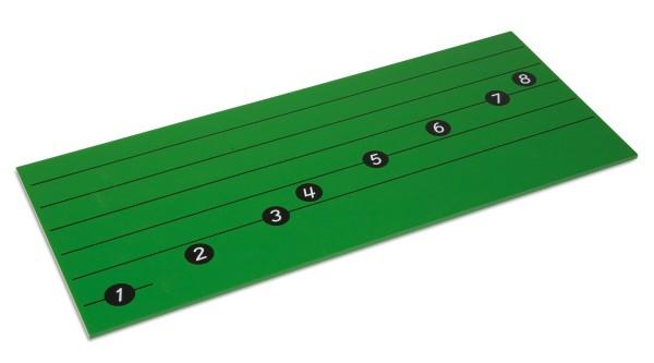 Brett mit Notenlinien für die C-Dur Tonleiter