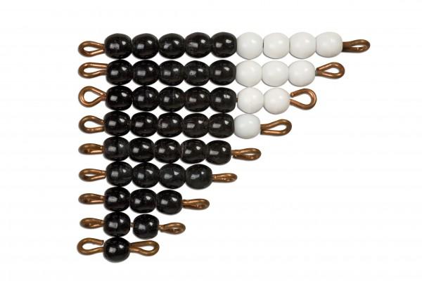 Schwarz-weiße Perlentreppen Glasperlen