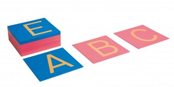 Sandpapiergroßbuchstaben Druckschrift International