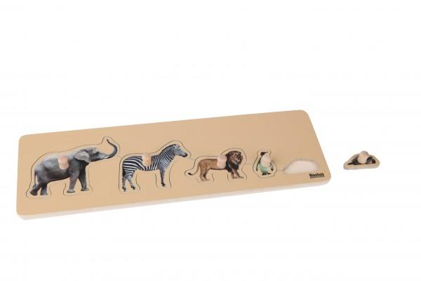 Kleinkind Puzzle 5 Wildtiere