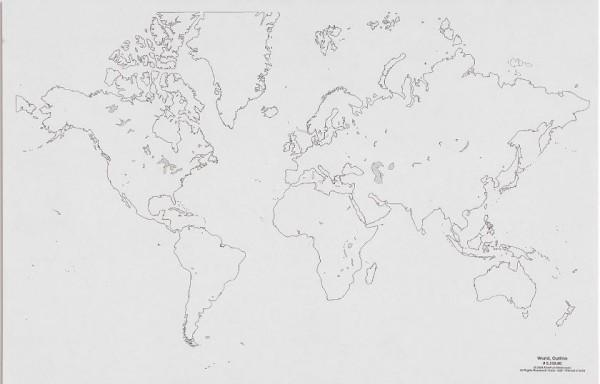 Weltkarte - Umriss (50)