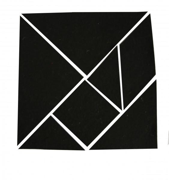 Tangram aus Filz (mit Lösungen)