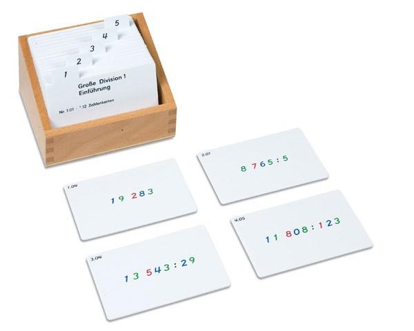 Kasten mit Aufgabenkarten für die Große Division Nienhuis