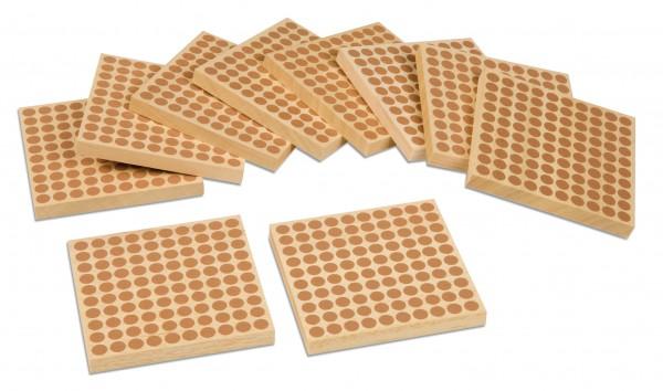 Holzquadrat per 10 Stück