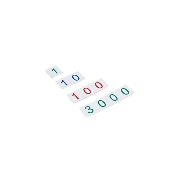 Kleine Zahlenkarten (Kunststoff) Zahlenbereich 1-3000 (GAM)