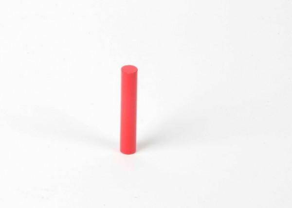 Farbige Zylinder - 1. roter Zylinder