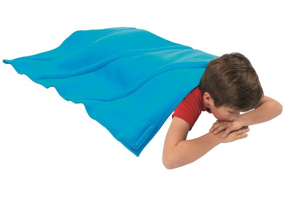 Schwere Decke für größere Kinder (blau)