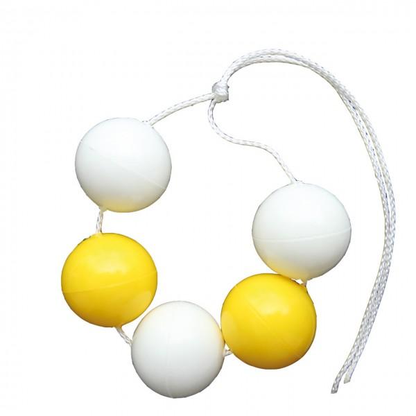Einfaches Kugelband gelb/weiß