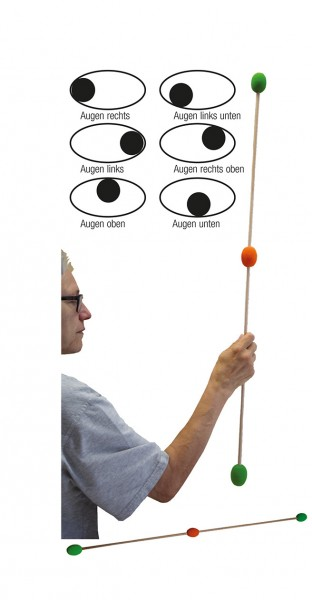 Augentraining-Stab ca. 100 cm lang