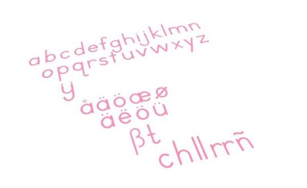 Bewegliches Alphabet mittel