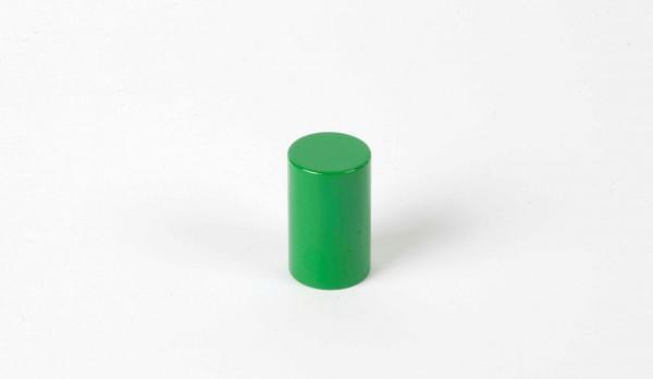 Farbige Zylinder - 4. grüner Zylinder