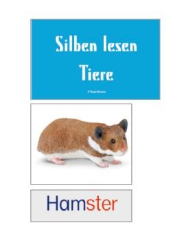 Silben lesen Tiere