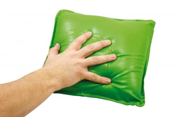 Vibrierendes Kissen, grün