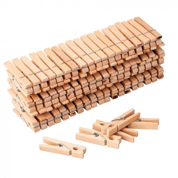 Holzklammern groß 100 Stück, 4,5 cm