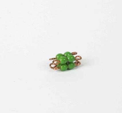 Perlenkubus von 2 grün lose Perlen