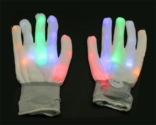 LED-Handschuhe Rainbow