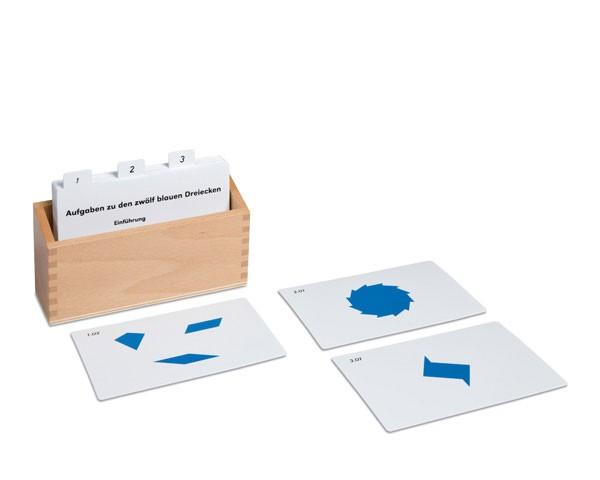 Kasten mit Aufgabenkarten für die Blauen Dreiecke